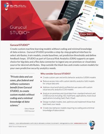 Gurucul-STUDIO-Datasheet