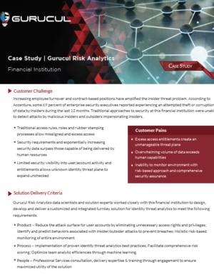Gurucul Risk Analytics financial institution case study