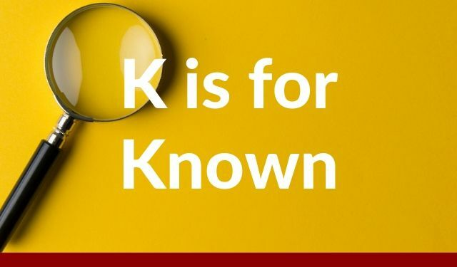 ABCs of UEBA: K is for Known
