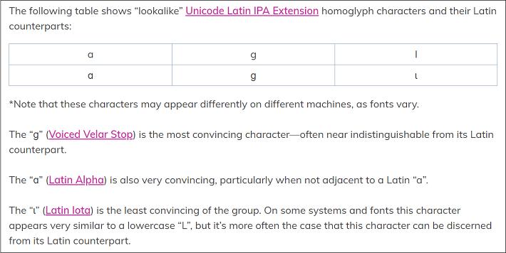 sanofi-lookalike Unicode Latin IPA Extension characters