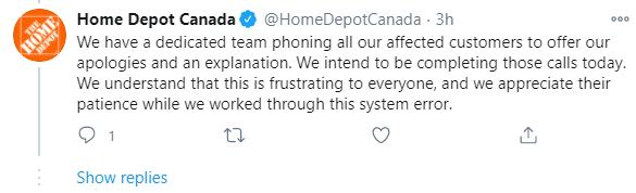 Home Depot Response