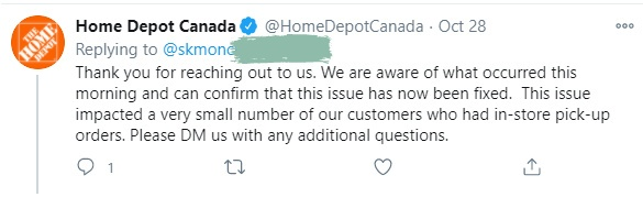 Home Depot Response1